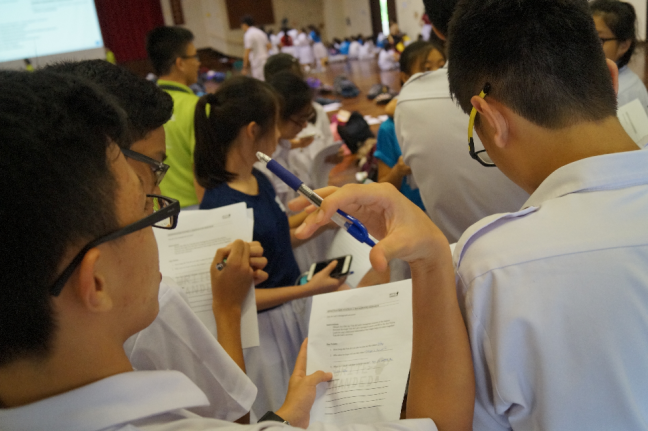 Young Journalists. Credit: Chung Cheng High School (Yishun)